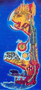 Die Landkarte des inneren Leuchtens stellt symbolisch die Energieproduktion und -verteilung im Körper dar.