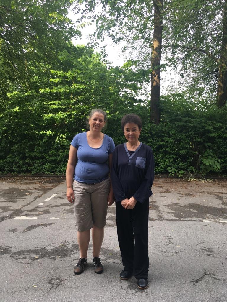 Jutta Spiecker mit Meisterin Mok Zhuangming 2017